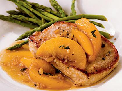 Pork Chops with Bourbon-Peach Sauce