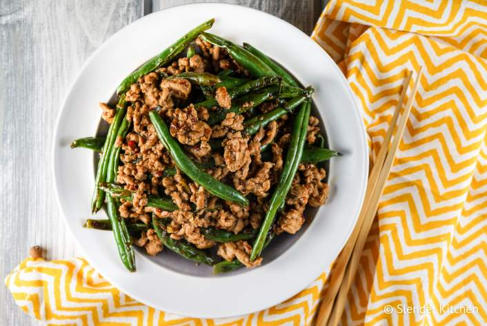 Spicy Turkey and Green Bean Stir Fry for dinner on Tuesday in this week