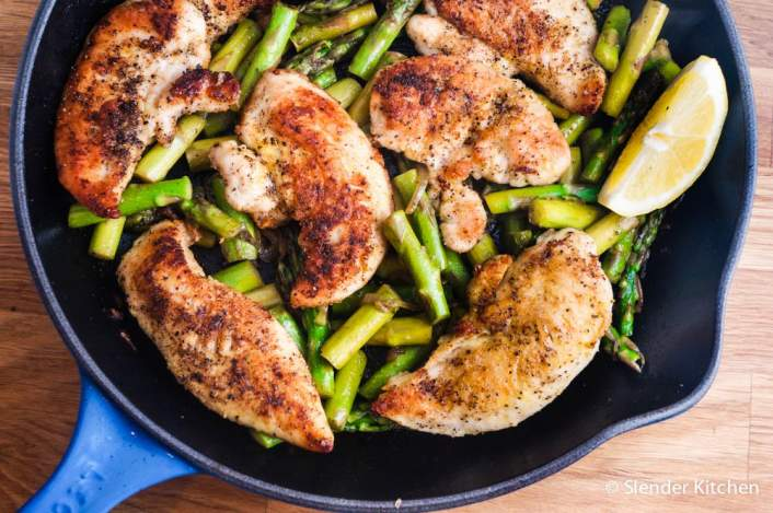 Lemon Garlic Chicken and Asparagus for dinner on Friday in the weekly meal plan.