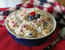 Red White and Blue Fruit Pasta Salad Recipe