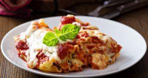 Spinach Beef Lasagna Rolls - Slender Kitchen