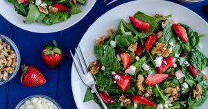 Strawberry Spinach Salad - Slender Kitchen