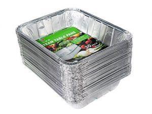 Aluminum Half Size Deep Foil Pan 30 packs 9 x 13 S...