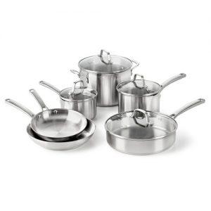Calphalon Classic Stainless Steel Cookware Set, 10...