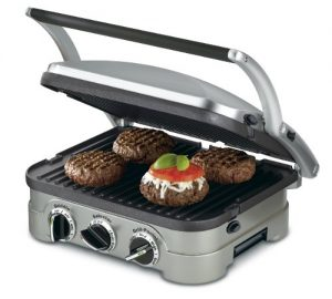 Cuisinart GR-4N 5-in-1 Griddler, Silver, Black Dia...