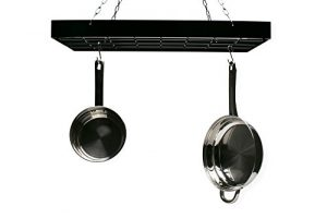 Fox Run 7801 Rectangle Pot Rack with Chains and Ho...