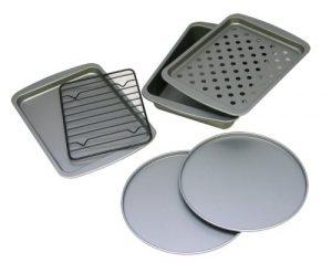 OvenStuff Non-Stick 6-Piece Toaster Oven Baking Pa...