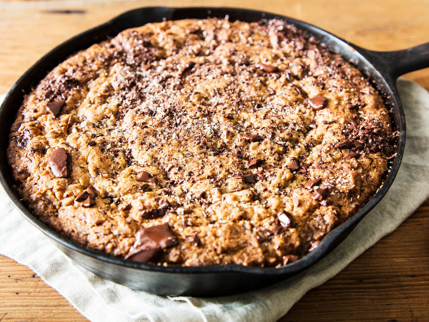 Chocolate Chip Cookie Cake In Cast Iron Skillet